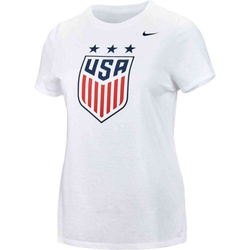 Girls Nike USWNT Crest Tee – White