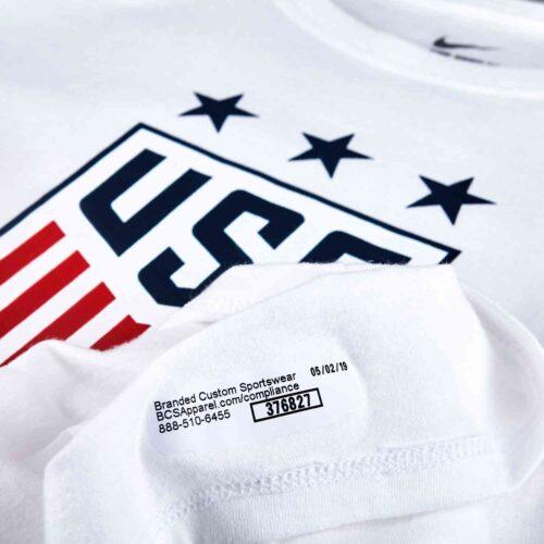 Girls Nike USWNT Crest Tee – White