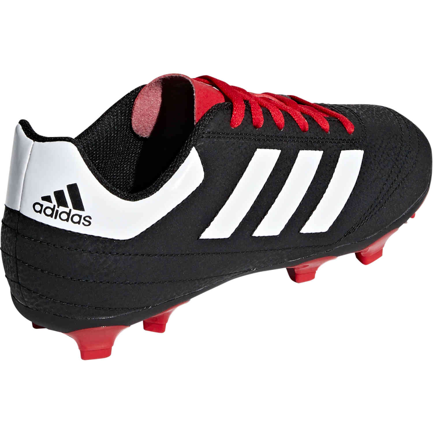 683c93d5a3e Kids adidas Goletto VI FG - Youth FG - Black White Scarlet - SoccerPro