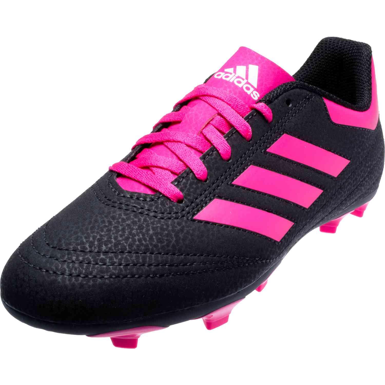 quality design de20f d4db7 Kids adidas Goletto VI FG – Youth FG – BlackShock PinkWhite