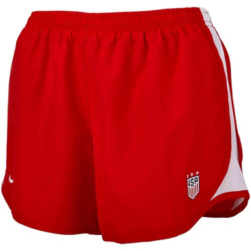 Girls Nike USWNT Tempo Shorts – Red