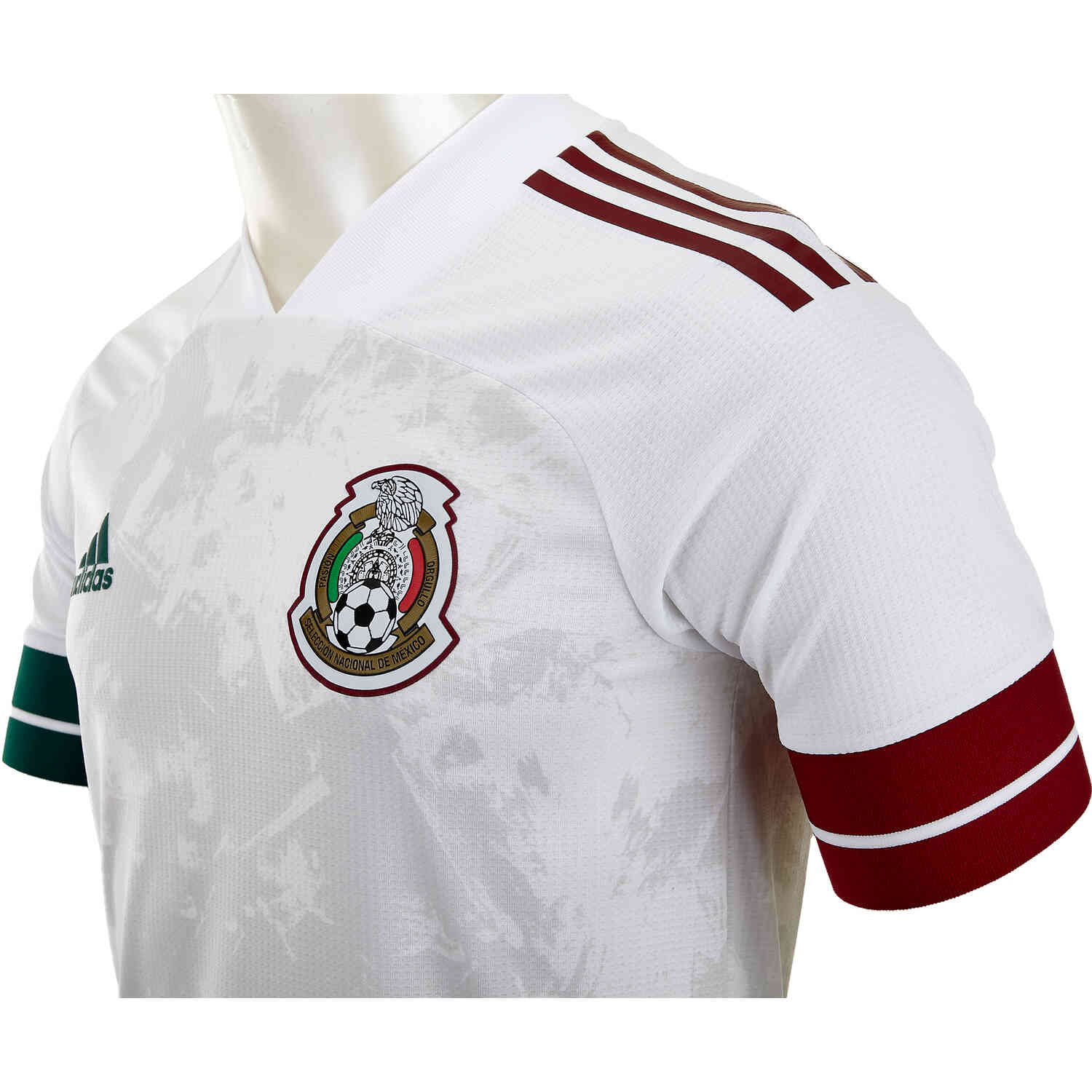 adidas Mexico Away Authentic Jersey - White - SoccerPro