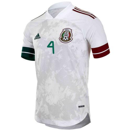 2020 adidas Edson Alvarez Mexico Away Authentic Jersey