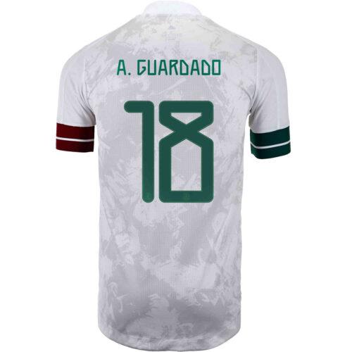 2020 adidas Andres Guardado Mexico Away Authentic Jersey