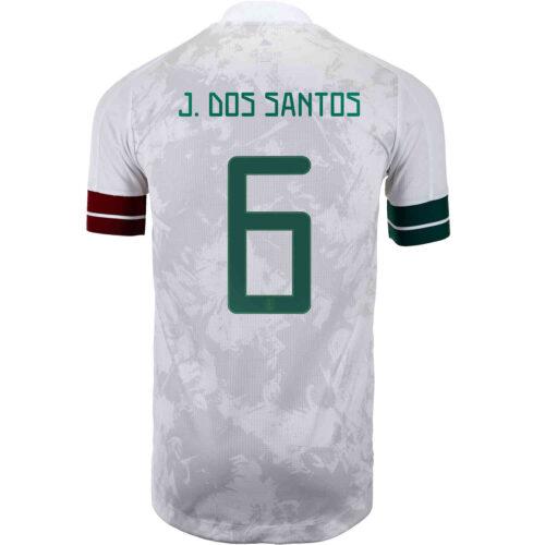 2020 adidas Jonathan dos Santos Mexico Away Authentic Jersey
