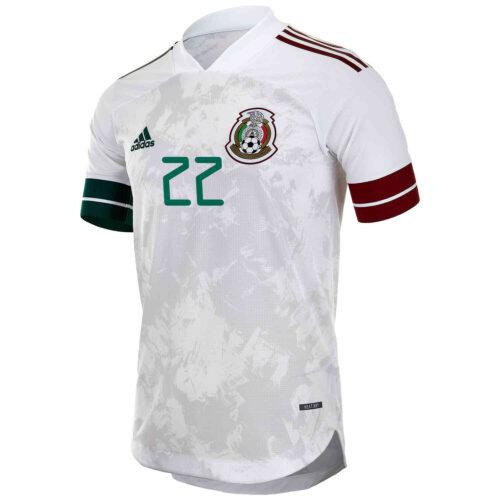 2020 adidas Hirving Lozano Mexico Away Authentic Jersey