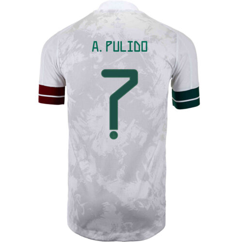 2020 adidas Alan Pulido Mexico Away Authentic Jersey