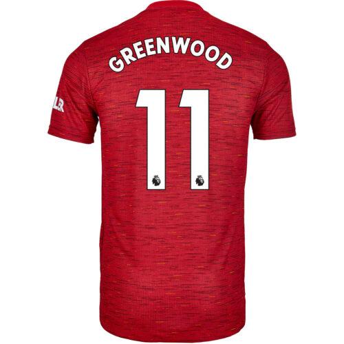 2020/21 adidas Mason Greenwood Manchester United Home Authentic Jersey
