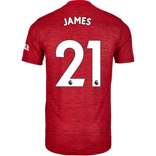 2020/21 adidas Daniel James Manchester United Home Authentic Jersey