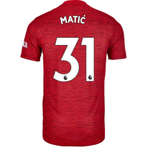 2020/21 adidas Nemanja Matic Manchester United Home Authentic Jersey
