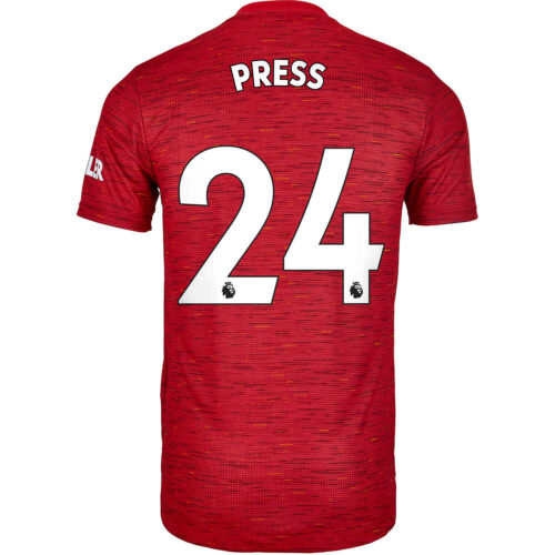 2020/21 adidas Christen Press Manchester United Home Authentic Jersey