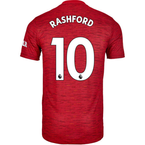 2020/21 adidas Marcus Rashford Manchester United Home Authentic Jersey
