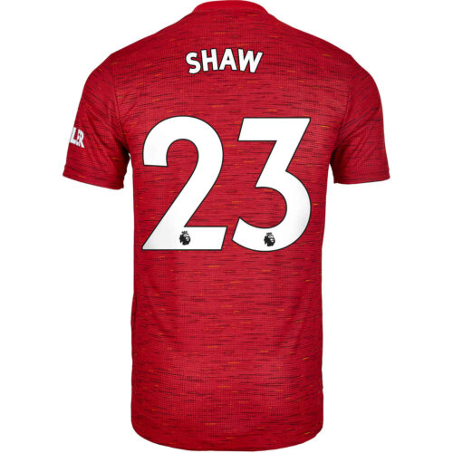 2020/21 adidas Luke Shaw Manchester United Home Authentic Jersey