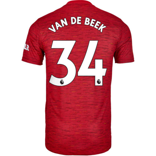 2020/21 adidas Donny van de Beek Manchester United Home Authentic Jersey