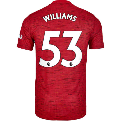 2020/21 adidas Brandon Williams Manchester United Home Authentic Jersey
