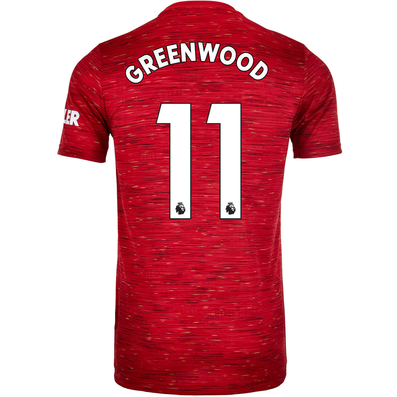 2020/21 adidas Mason Greenwood Manchester United Home Jersey - SoccerPro