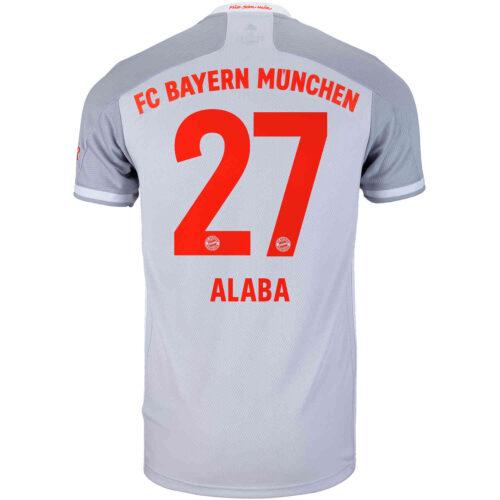 2020/21 adidas David Alaba Bayern Munich Away Jersey