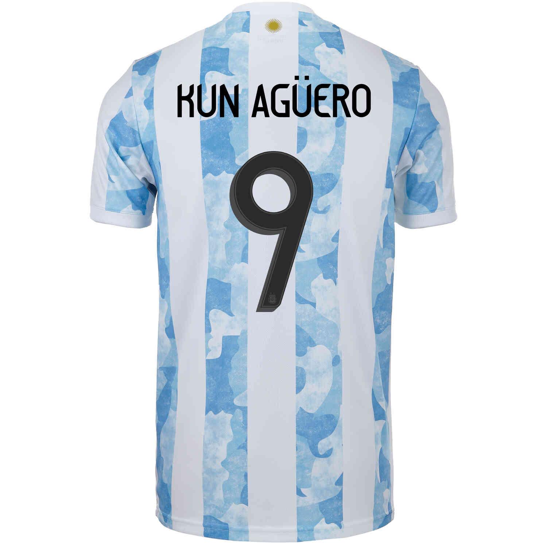 2021 adidas Sergio Aguero Argentina Home Jersey - SoccerPro