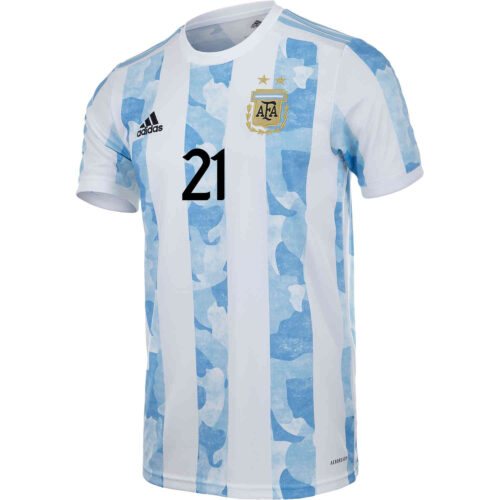 2021 adidas Paulo Dybala Argentina Home Jersey