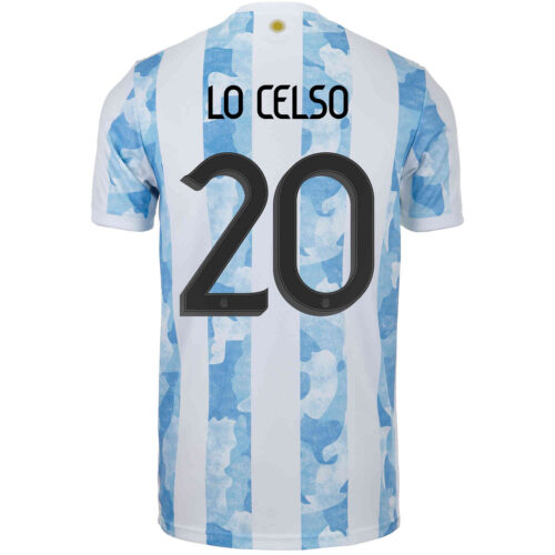 2021 adidas Giovani Lo Celso Argentina Home Jersey