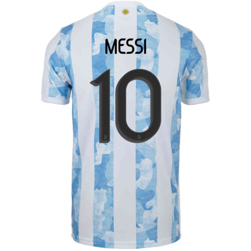 2021 adidas Lionel Messi Argentina Home Jersey