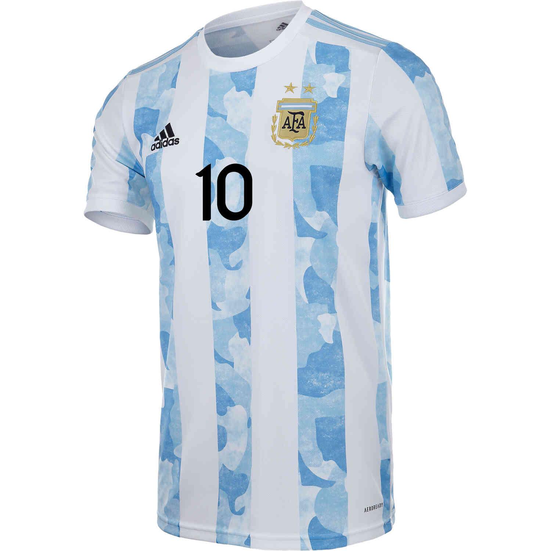 2021 adidas Lionel Messi Argentina Home Jersey - SoccerPro