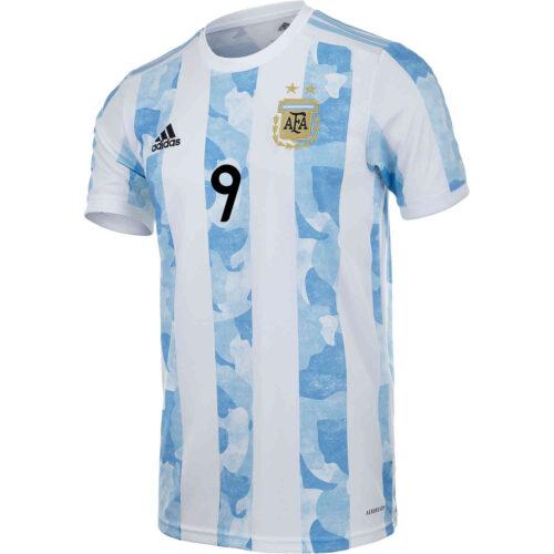 2021 Kids adidas Sergio Aguero Argentina Home Jersey