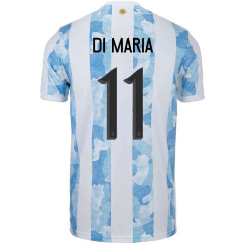 2021 Kids adidas Angel Di Maria Argentina Home Jersey