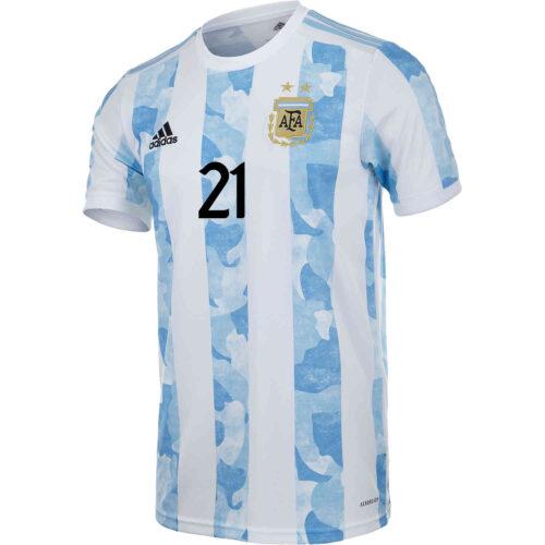 2021 Kids adidas Paulo Dybala Argentina Home Jersey