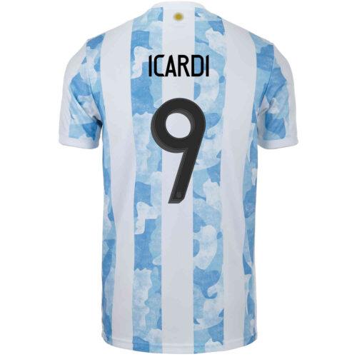 2021 Kids adidas Mauro Icardi Argentina Home Jersey