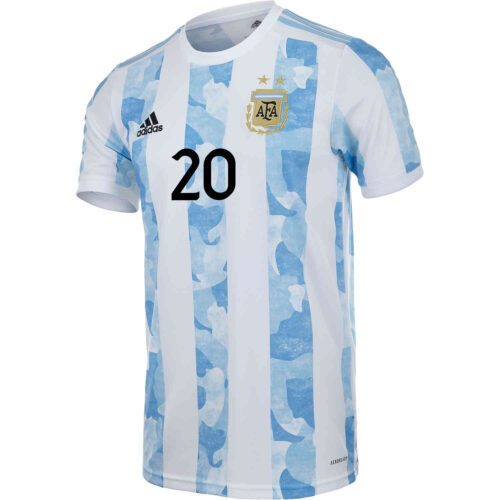2021 Kids adidas Giovani Lo Celso Argentina Home Jersey