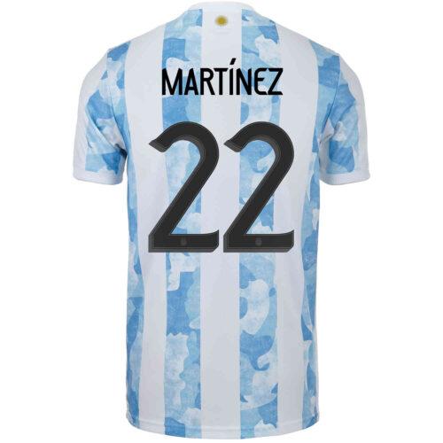 2021 Kids adidas Lautaro Martinez Argentina Home Jersey
