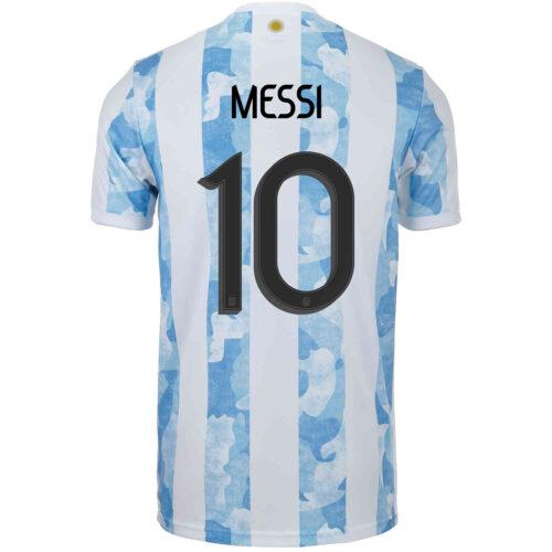 2021 Kids adidas Lionel Messi Argentina Home Jersey