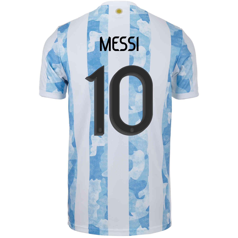 2021 Kids adidas Lionel Messi Argentina Home Jersey - SoccerPro