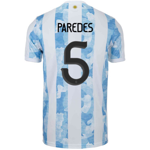 2021 Kids adidas Leandro Paredes Argentina Home Jersey