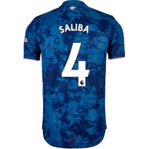 2020/21 adidas Willian Saliba Arsenal 3rd Authentic Jersey