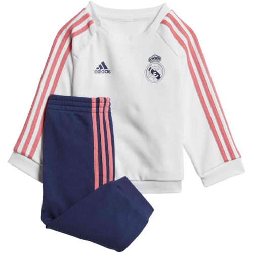 Infants adidas Real Madrid 3-Stripes Jogger – White/Dark Blue