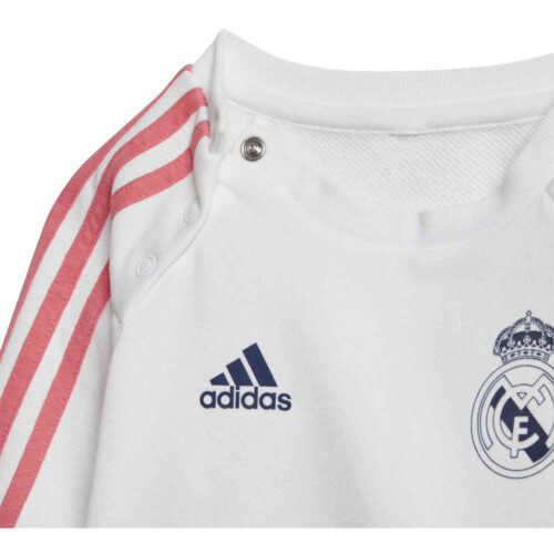 Infants adidas Real Madrid 3-Stripes Jogger – White/Dark Blue