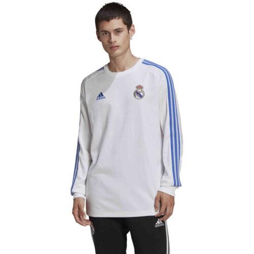 adidas Real Madrid Icons L/S Tee – White/Black