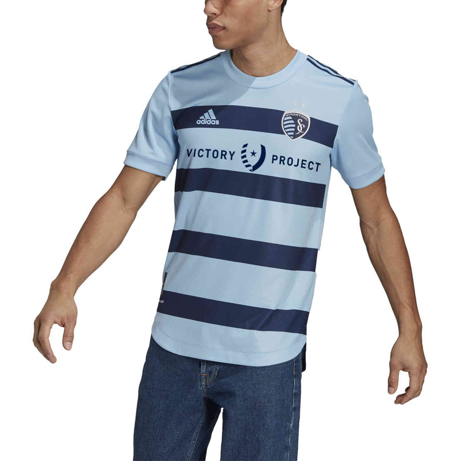 2021 adidas Sporting KC Home Authentic Jersey - SoccerPro
