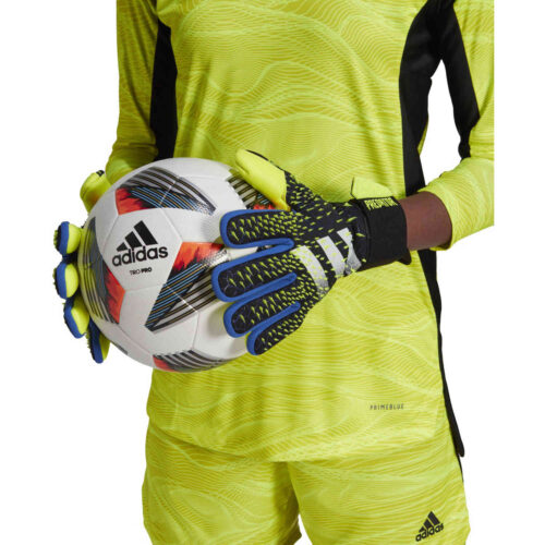 adidas Predator Competition Negative Cut Goalkeeper Gloves – Black & Royal Blue with Solar Yellow with White