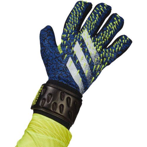 adidas Predator League Negative Cut Goalkeeper Gloves – Black & Team Royal with Solar Yellow