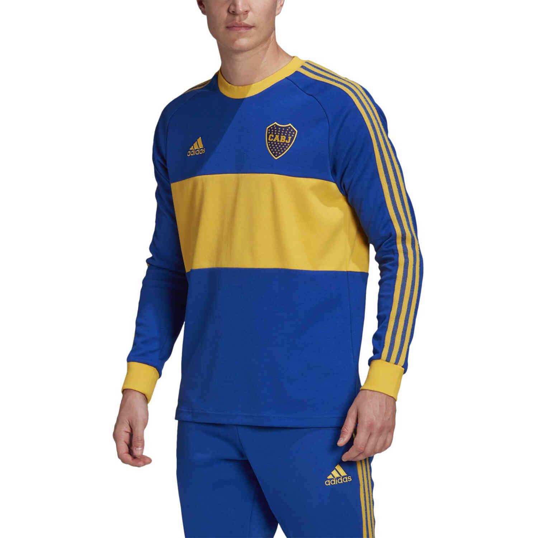 localizar juego tapa  adidas Boca Juniors L/S Retro Jersey - Power Blue - SoccerPro