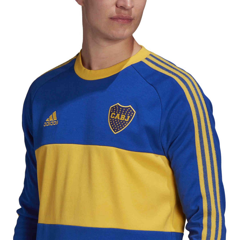 adidas Boca Juniors L/S Retro Jersey - Power Blue - SoccerPro