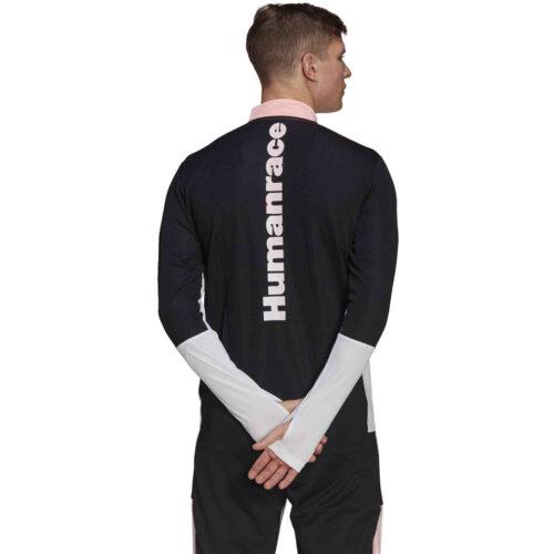 adidas Human Race Juventus 1/4 zip Training Top – White/Black