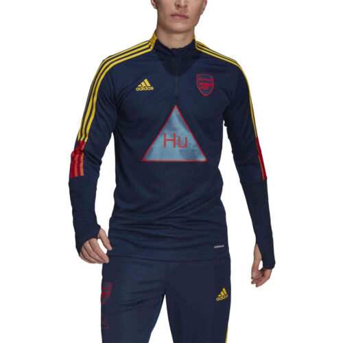 adidas Human Race Arsenal 1/4 zip Training Top – Night Indigo