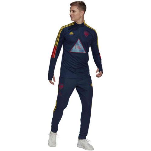 adidas Human Race Arsenal 1/4 zip Training Top – Night Indigo