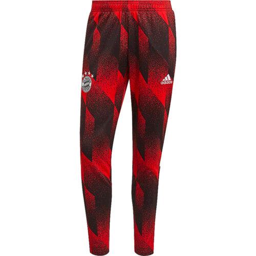 adidas Bayern Munich All Over Print Training Pants – Black/FCB True Red