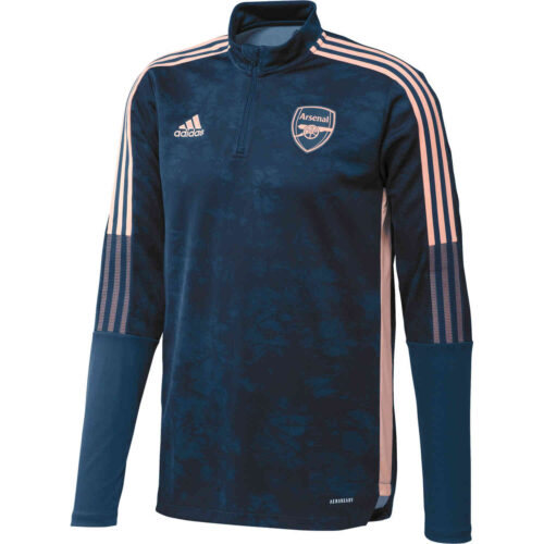 adidas Arsenal All Over Print 1/4 zip Training Top – Legend Marine/Collegiate Navy