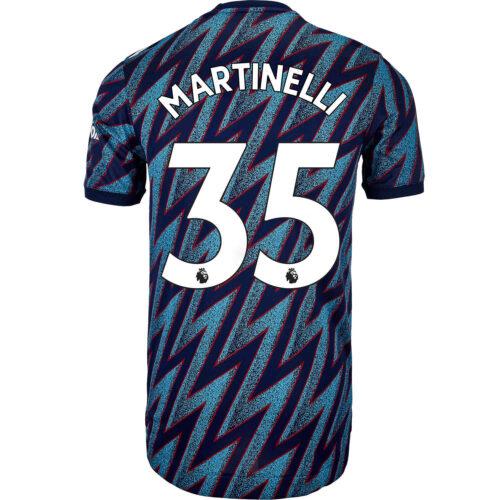 2021/22 adidas Gabriel Martinelli Arsenal 3rd Authentic Jersey